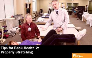 backhealth stretching33 Living Well Videos